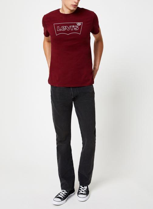 Vêtements Levi's Housemark Graphic Tee M Bordeaux vue bas / vue portée sac