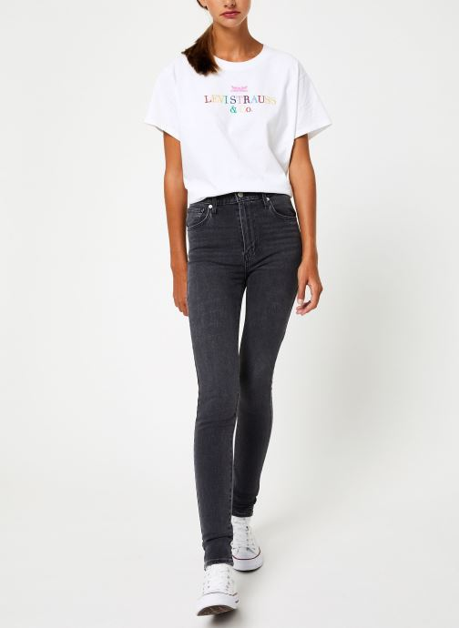 Vêtements Levi's Mile High Super Skinny W Gris vue bas / vue portée sac