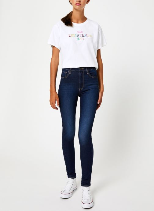 Vêtements Levi's Mile High Super Skinny W Bleu vue bas / vue portée sac