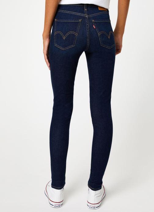Vêtements Levi's Mile High Super Skinny W Bleu vue portées chaussures