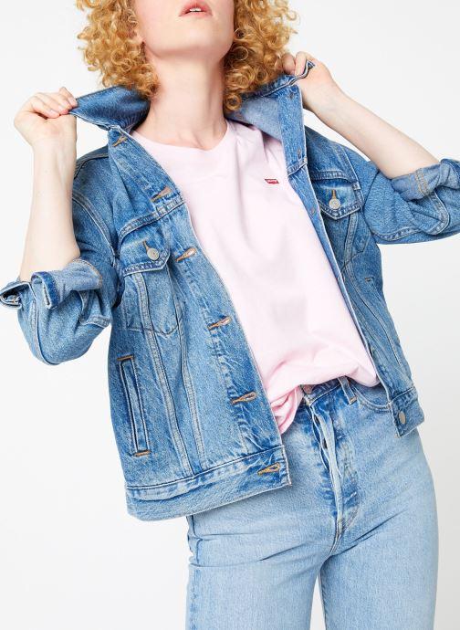 Vêtements Levi's Ex-Boyfriend Trucker W Bleu vue détail/paire