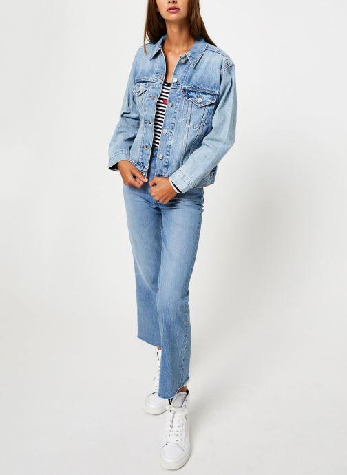 Vêtements Levi's Ex-Boyfriend Trucker W Bleu vue bas / vue portée sac