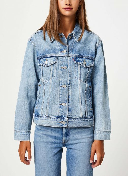 Vêtements Levi's Ex-Boyfriend Trucker W Bleu vue droite