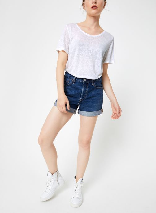 Vêtements Levi's 501® Short Long W Bleu vue bas / vue portée sac