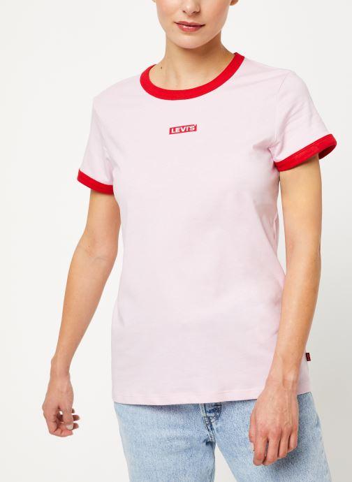 Vêtements Levi's Perfect Ringer Tee W Rose vue détail/paire