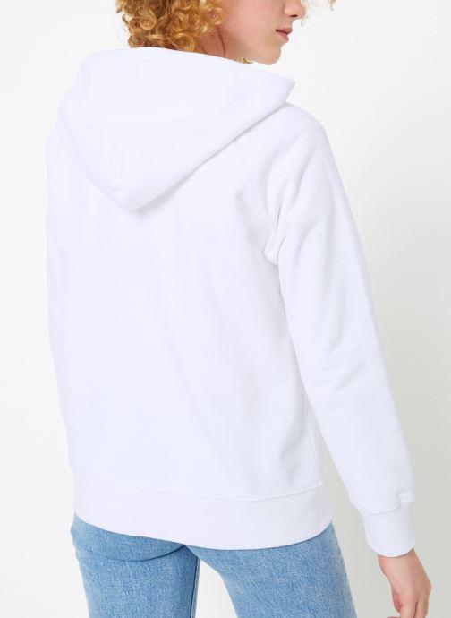Vêtements Levi's Graphic Sport Hoodie Logo W Blanc vue portées chaussures