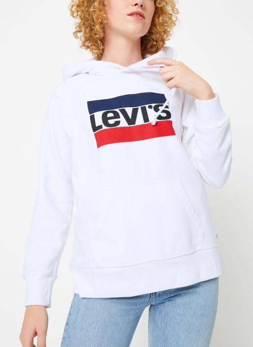 Vêtements Levi's Graphic Sport Hoodie Logo W Blanc vue droite
