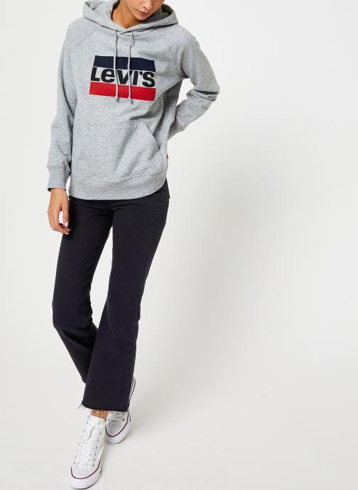 Vêtements Levi's Graphic Sport Hoodie Logo W Gris vue bas / vue portée sac