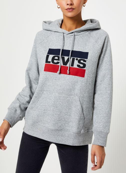 Vêtements Levi's Graphic Sport Hoodie Logo W Gris vue droite