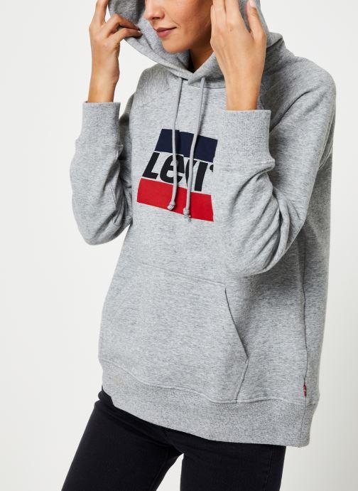 Vêtements Levi's Graphic Sport Hoodie Logo W Gris vue détail/paire