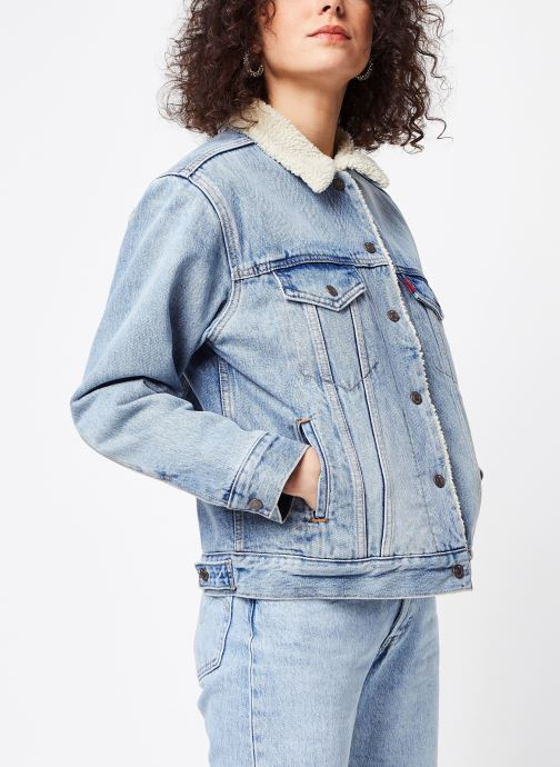 Vêtements Levi's Ex-Bf Sherpa Trucker W Bleu vue droite