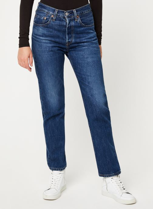 Vêtements Levi's 501® Crop W Bleu vue détail/paire