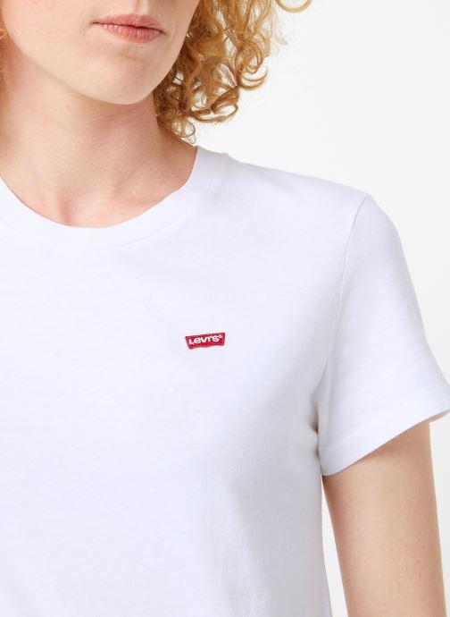 Vêtements Levi's Perfect Tee W Blanc vue face