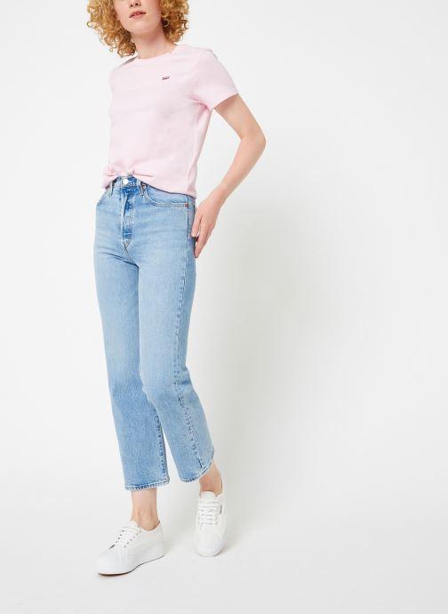 Vêtements Levi's Perfect Tee W Rose vue bas / vue portée sac