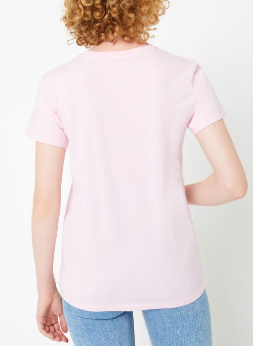 Kleding Levi's Perfect Tee W Roze model
