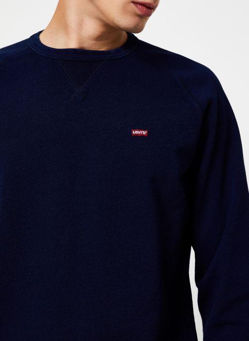 Vêtements Levi's Original Hm Icon Crew M Bleu vue face