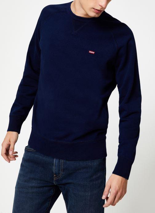 Vêtements Levi's Original Hm Icon Crew M Bleu vue droite