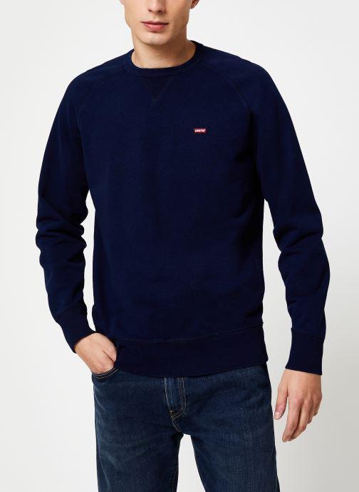 Vêtements Levi's Original Hm Icon Crew M Bleu vue détail/paire