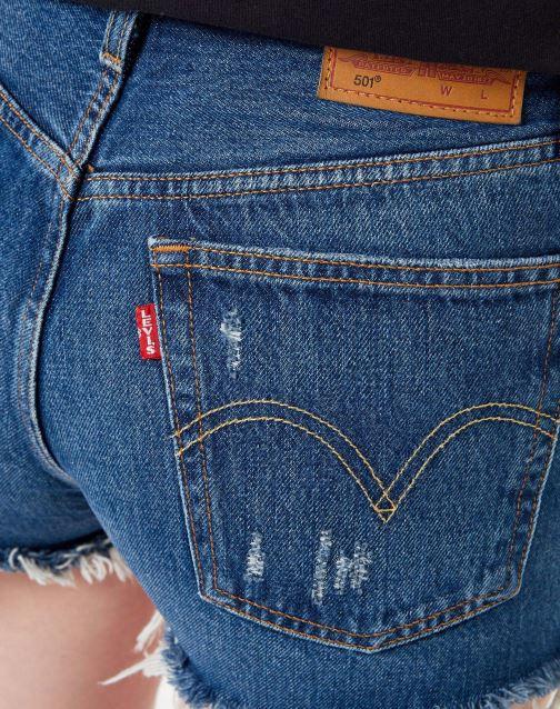 Vêtements Levi's 501 High Rise Short W Bleu vue face