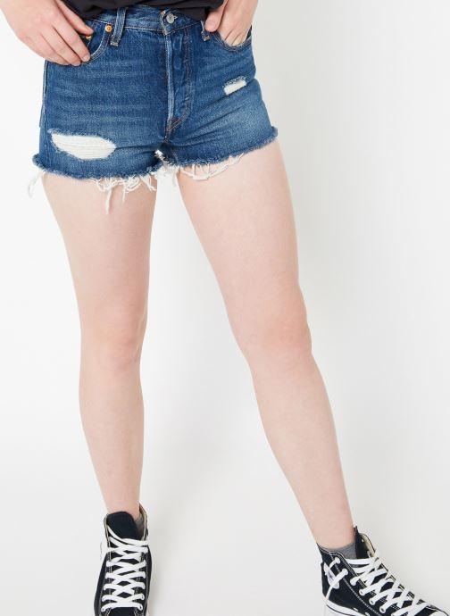 Vêtements Levi's 501 High Rise Short W Bleu vue détail/paire