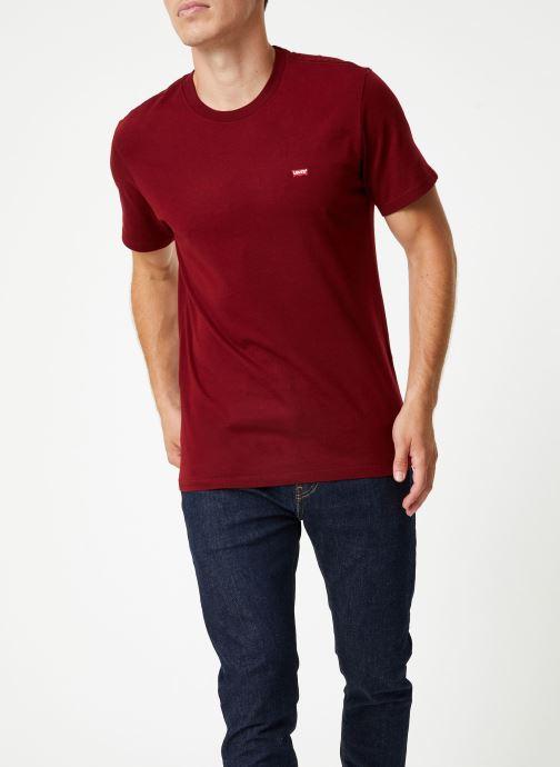 Tøj Levi's Ss Original Hm Tee M Bordeaux Se fra højre