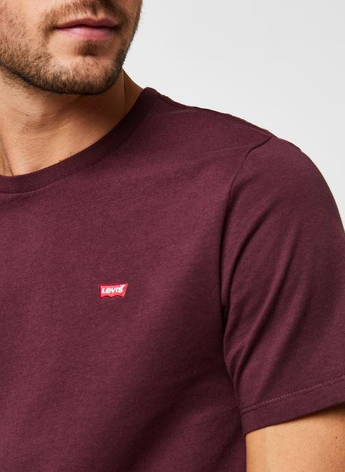 Vêtements Levi's Ss Original Hm Tee M Bordeaux vue face