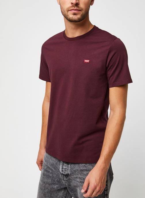 Vêtements Levi's Ss Original Hm Tee M Bordeaux vue droite