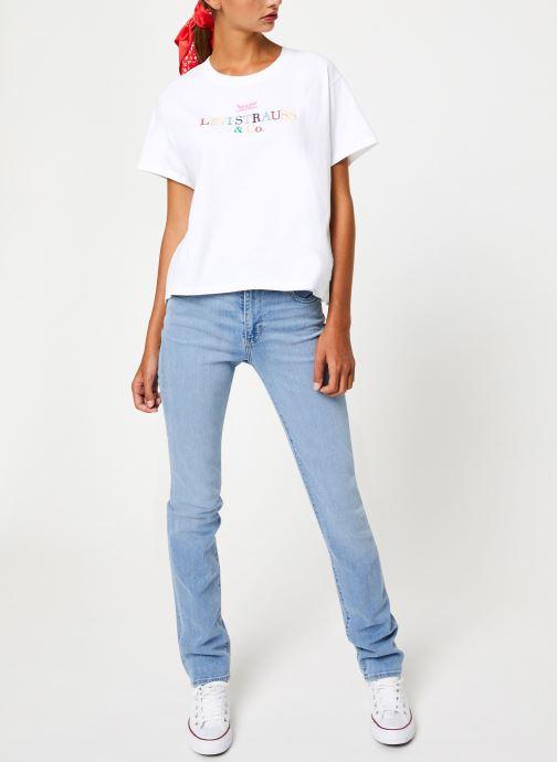 Vêtements Levi's Graphic Varsity Tee W Blanc vue bas / vue portée sac
