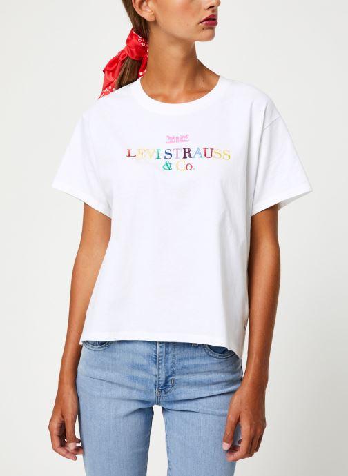 Vêtements Levi's Graphic Varsity Tee W Blanc vue détail/paire