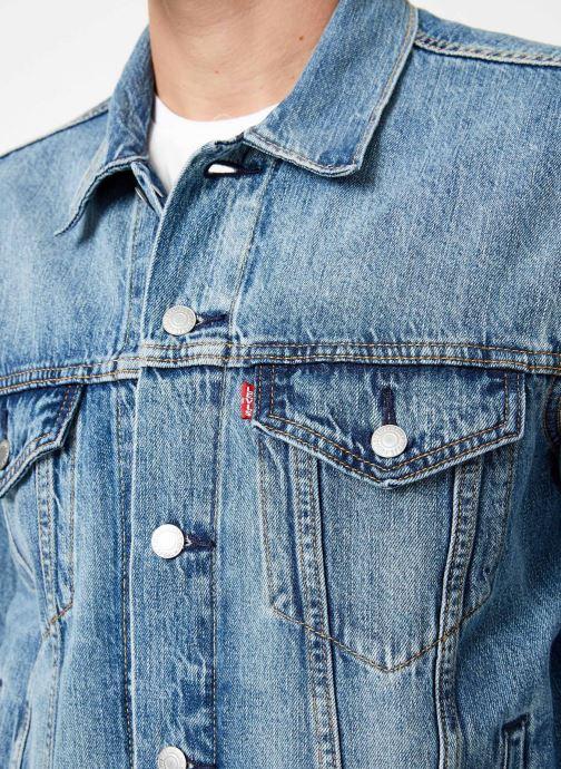 Kleding Levi's The Trucker Jacket M Blauw voorkant
