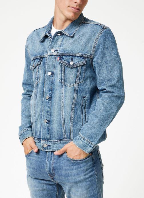 Kleding Levi's The Trucker Jacket M Blauw rechts