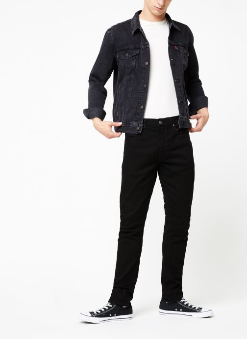 Vêtements Levi's The Trucker Jacket M Noir vue bas / vue portée sac