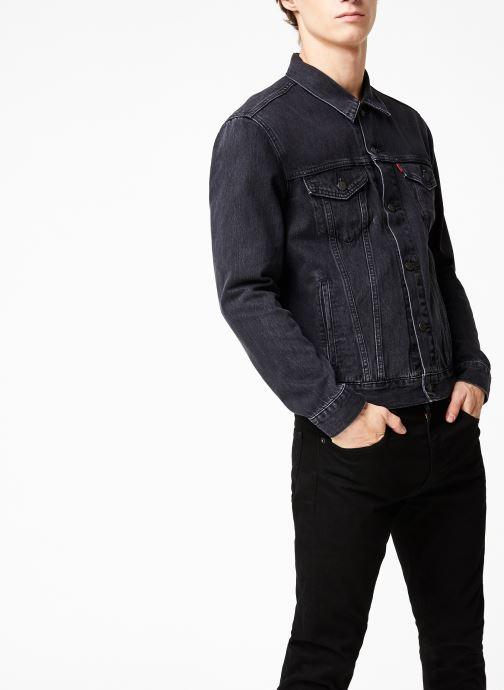 Vêtements Levi's The Trucker Jacket M Noir vue droite