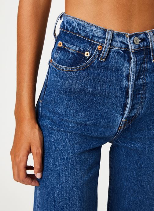 Kleding Levi's Ribcage Straight Ankle W Blauw voorkant