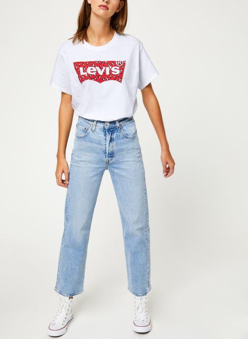 Vêtements Levi's Ribcage Straight Ankle W Bleu vue bas / vue portée sac