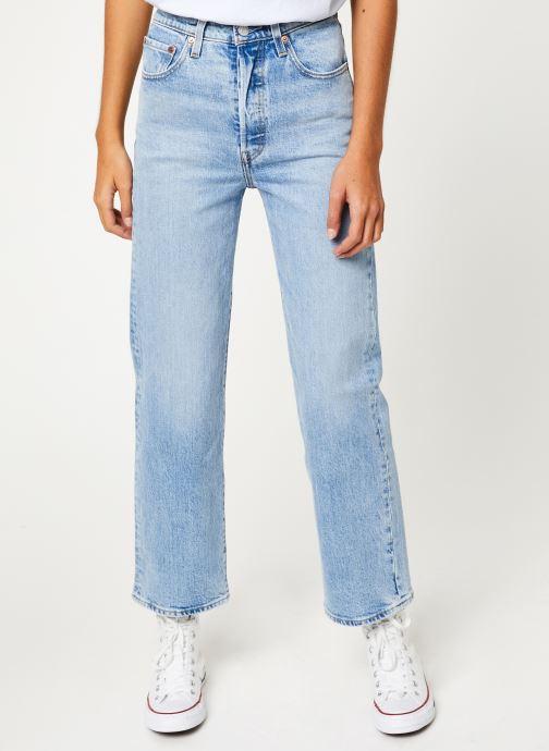Vêtements Levi's Ribcage Straight Ankle W Bleu vue détail/paire