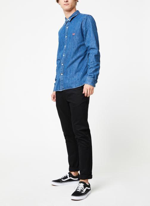 Vêtements Levi's Ls Battery Hm Shirt M Bleu vue bas / vue portée sac