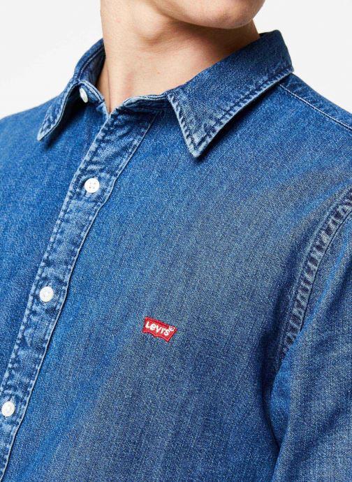 Vêtements Levi's Ls Battery Hm Shirt M Bleu vue face