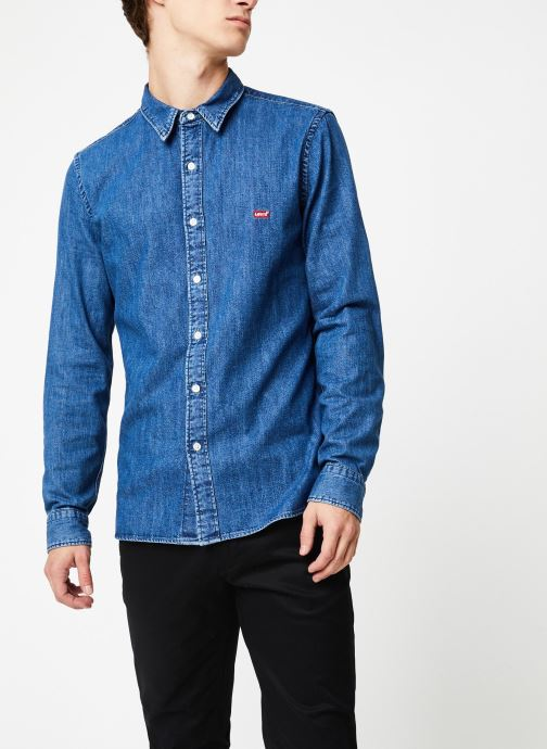 Vêtements Levi's Ls Battery Hm Shirt M Bleu vue droite