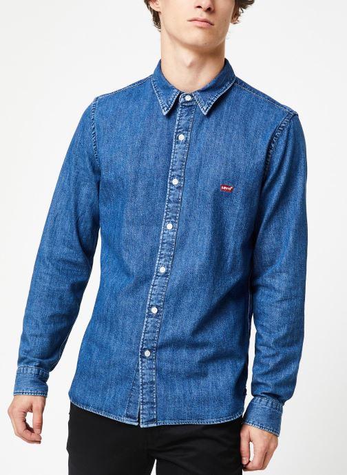 Vêtements Levi's Ls Battery Hm Shirt M Bleu vue détail/paire