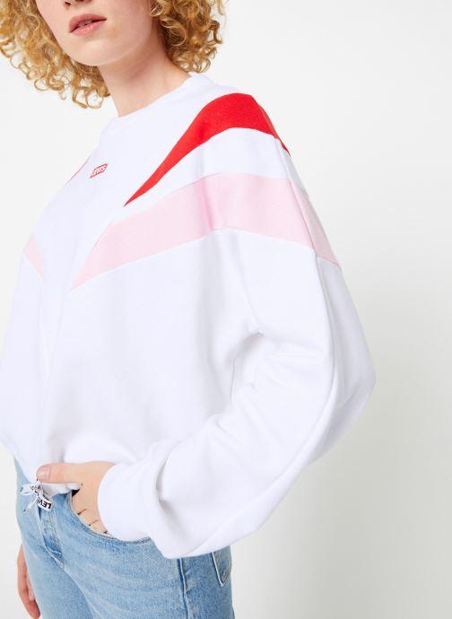 Vêtements Levi's Florence Crew W Blanc vue droite