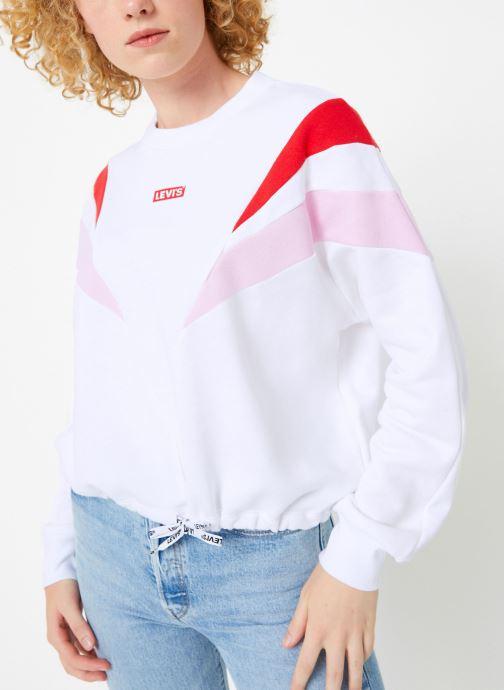 Vêtements Levi's Florence Crew W Blanc vue détail/paire