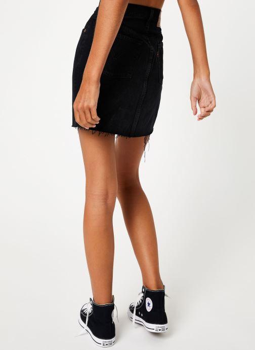 Vêtements Levi's Hr Decon Iconic Bf Skirt W Noir vue portées chaussures