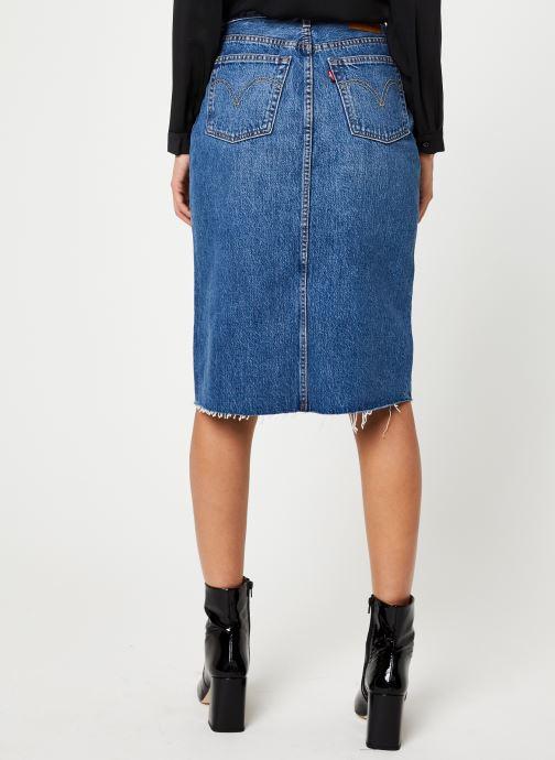 Vêtements Levi's Deconstructed Midi Skirt W Bleu vue portées chaussures