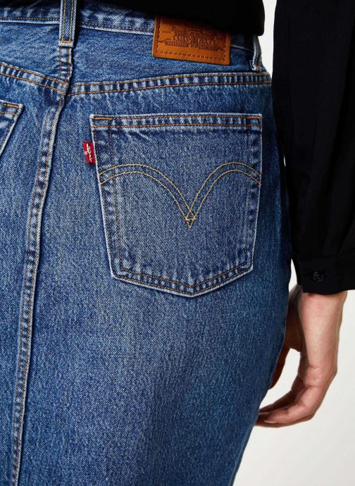 Vêtements Levi's Deconstructed Midi Skirt W Bleu vue face