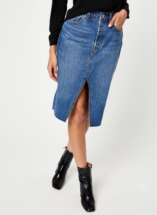 Vêtements Levi's Deconstructed Midi Skirt W Bleu vue détail/paire