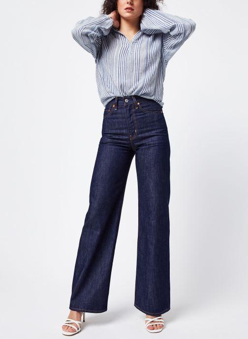 Vêtements Levi's Ribcage Wide Leg W Bleu vue bas / vue portée sac