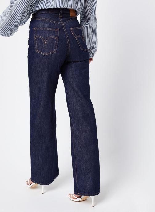 Vêtements Levi's Ribcage Wide Leg W Bleu vue portées chaussures