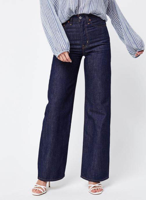 Vêtements Levi's Ribcage Wide Leg W Bleu vue détail/paire
