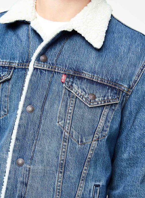 Vêtements Levi's Type 3 Sherpa Trucker M Bleu vue face